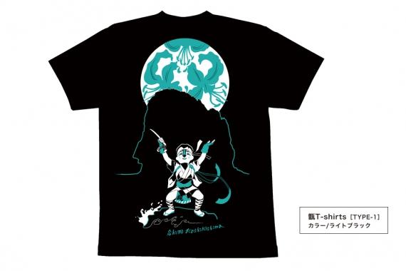 甑T-shirtsタイプ1_ライトブラック