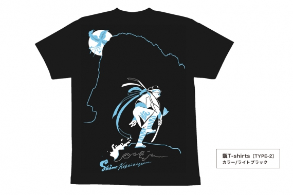 甑T-shirtsタイプ2_ライトブラック